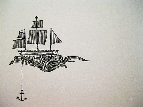 """sailboat drawing - woulod go beautifully with """"O Captain, My Captain"""" or a little more from Invictus."""
