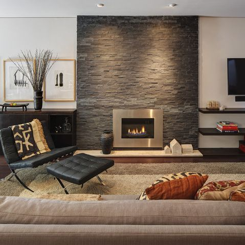 233 best Modern Fireplace Flair images on Pinterest Modern
