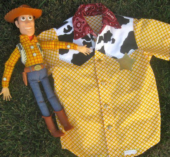 Cowboy Woody Shirt Costume Toy Story Boys by MadiBethCreations, $39.00