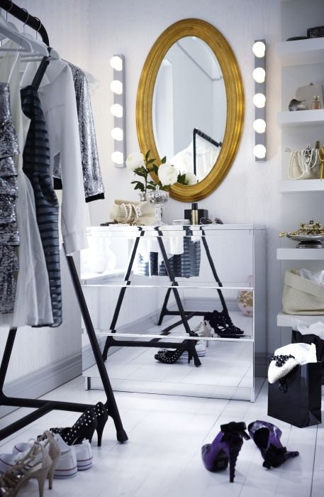 The new MALM chest of drawers with mirrored finish will make any dressing room more glamorous.