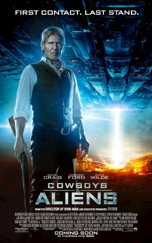 Cowboys, Aliens...and Harrison Ford! I feel safer all ready