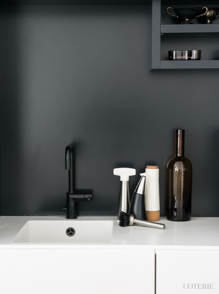 Two friends, one blog driven by a passion for fashion and interior. Join our coterie at www.coterie.fi   #Coterieofficial #Coterie #blog #interior #home #deco #decoration #decor #white #grey #modern #Scandinavian #scandinavianstyle #scandinatiandesign #kitchen #minimalistic #Finland #Helsinki #tap #kitchentap #faucet #Nivito #black #peppermill #Iittala #soapholder #zonedenmark