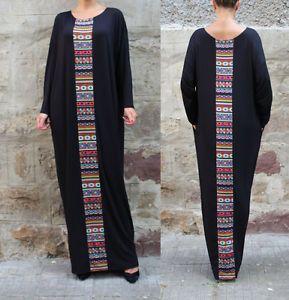 Женские зимние с длинным рукавом богемное макси вечернее длинное платье пляжный свободный сарафан   Одежда, обувь и аксессуары, Одежда для женщин, Платья   eBay!