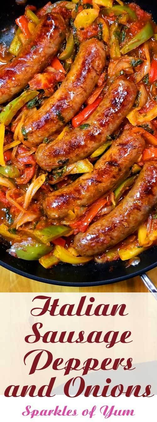 Italian sausage pepper and onions – Food lover – #Food #Italian #lov …   – Essen Ideen