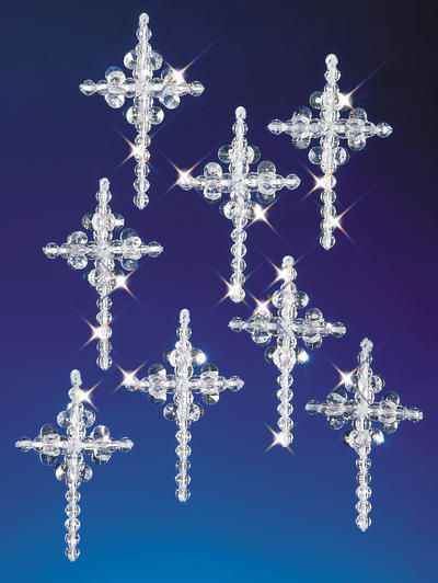 Holiday Beaded Ornament Kit - Crystal Crosses