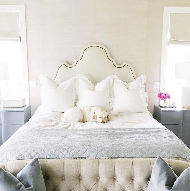 Oly Studio Ingrid Bed - white on white bedroom design www.olystudio.com