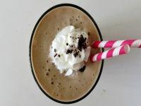 Frappe 1/2 C almond milk 1/2 C coffee 1 Tbsp cocoa 1/2 tsp glucomannan  1/4 tsp sea salt 2 level scoops Kal stevia powder 1 tsp vanilla Blend well (30 sec-1min) Add 1/2-1 C crushed ice. Blend.  Add 1 scoop whey protein. Blend. For PB Choco: Use 1/2 Tbsp cocoa & 1/2 Tbsp peanut flour