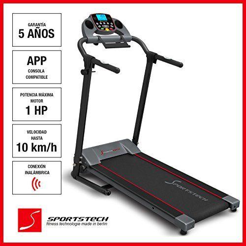 Caminadora F10 de Sportstech Una caminadora ideal para principiantes y atletas recreativos. Para ejercicios fáciles de caminata o para trotar. La F10 de Sportstech se desarrolló para muchas actividades.  Descripción detallada del producto en: www.sportstech.de/f10es  Puntos extra sobre la co... http://gimnasioynutricion.com/maquinas/cinta-correr/caminadora-sportstech-f10-con-aplicacion-de-control-smartphone-cinta-de-pulso-incluida-superficie-extra-grande-para-correr-blueto
