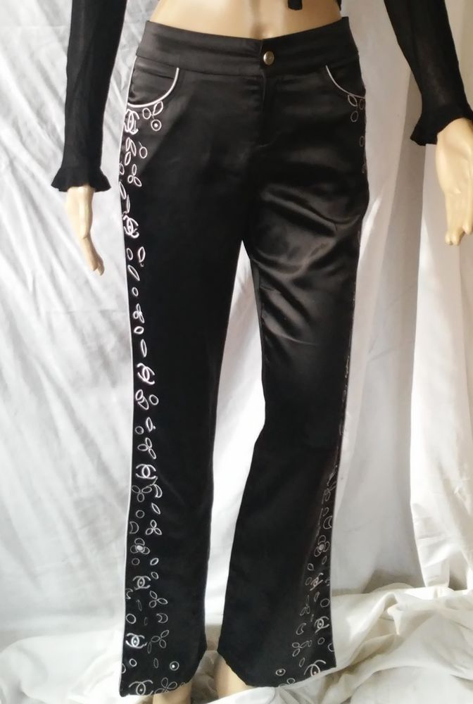 #twitter#tumbrl#instagram#avito#ebay#yandex#facebook #whatsapp#google#fashion#icq#skype#dailymail#avito.ru#nytimes #i_love_ny     Gorgeous CHANEL vintage black cotton blend  Pants #CHANEL #CasualPants