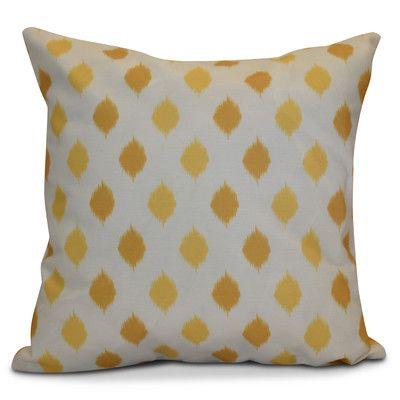 The Holiday Aisle Hanukkah 2016 Decorative Holiday Geometric Euro Pillow Color: Yellow