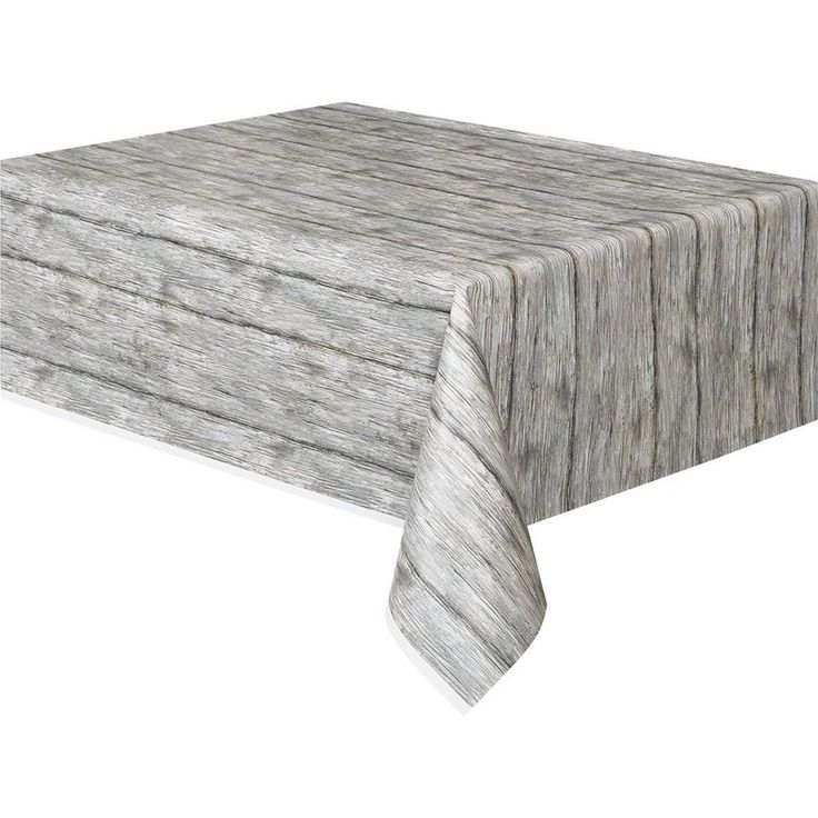 Rustic Birch Wood Table Cover