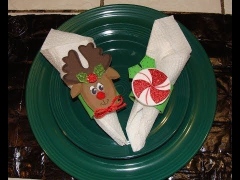 DIY- PORTA SERVILLETAS NAVIDEÑO / Christmas napkin ring - YouTube