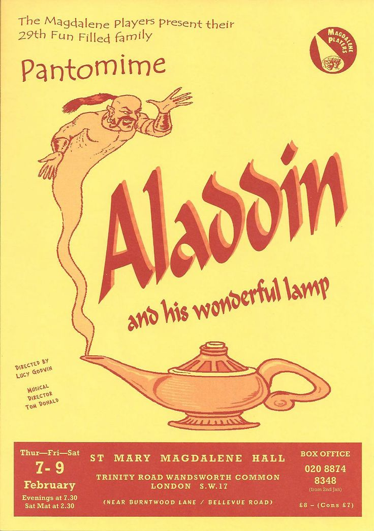 A traditional Aladdin cover