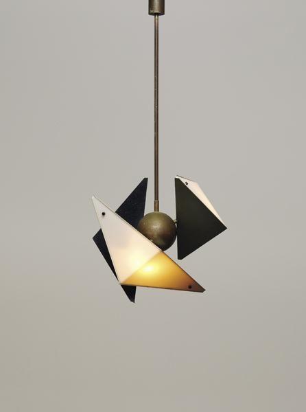 Angelo Lelii, Ceiling light, 1950s.