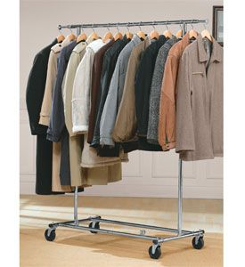 This Commercial Chrome Garment And Coat Rack Can Hold Up To 125 Pounds  Folds Flat For Easy Storage Between Uses And Is A Great Coat Rack For  Businesses.