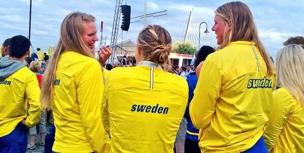 Ruotsin edustajat tunnustavat väriä. #Sweden #Tampere #Laukontori #Tampere2013 #yleisurheilu