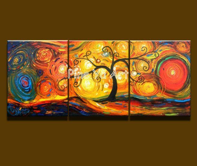 3 muti pannello astratto moderno della parete della tela decorativa arancione acrilico albero pittura a olio su tela per soggiorno camera da letto decorazione in       Marca:   Pino ya arte         Stato:   Per la vendita, disponibile, 100% handmade.         Formato:  40x60cmx3pcs da Pittura e calligrafia su AliExpress.com | Gruppo Alibaba