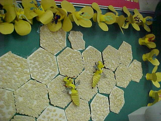 The Hive Of Hexagonal Honeycomb Cutouts Creatively Decorated With Cereal And Bees Complete All Its Anatomical Parts