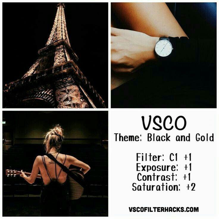 Filtro VSCO BLACK & GOLD