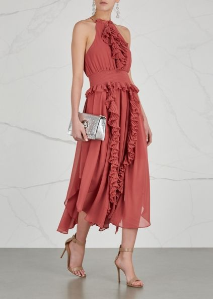 KEEPSAKE Say Something ruffle-trimmed midi dress - Harvey Nichols