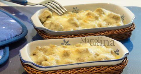 Gnocchi Integrali Gatinati con Brie e Fontina  Link ricetta --> http://blog.giallozafferano.it/martolinaincucina/gnocchi-integrali-gratinati-con-brie-e-fontina/