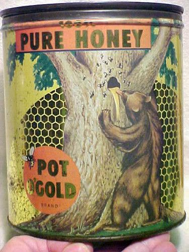 Vintage Pot O'Gold Pure Honey Can...