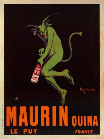maurin quina: Advertising Reproduction, Canvas Prints, 1906 Absinthe, Absinthe Advertising, Print 24X33