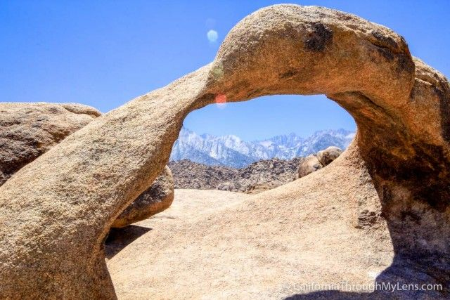 Mobius Arch  This arch is in the Alabama Hills near Lone Pine but what makes it so cool is that it perfectly frames Mt Whitney, which is the tallest mountain in the contiguous United States.