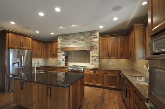 Custom Kraftmaid Kitchen Sedona Maple Cognac Color