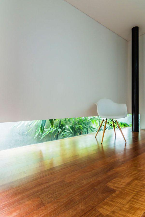 A way to break the long hallway feel