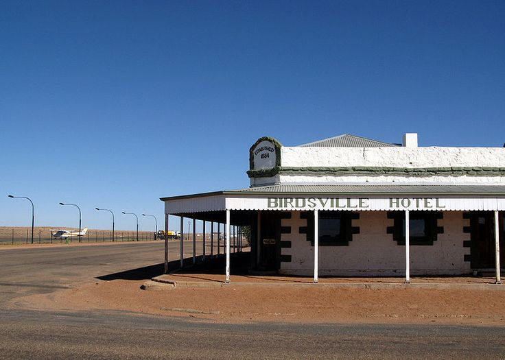 Birdsville Hotel.jpg. on the edge of the Simpson dessert. Population approx 280
