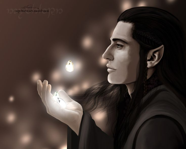 "mythlorn-art: ""  Fëanor - Silmarils Feanor for Sunaddicted. Here you are! It's hard to really visualize something that even the Valar couldn't replicate. So we simplified a little. And by we, I mean me."