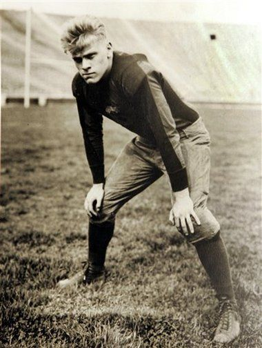 President Gerald R. Ford when linebacker and center for the University of Michigan.