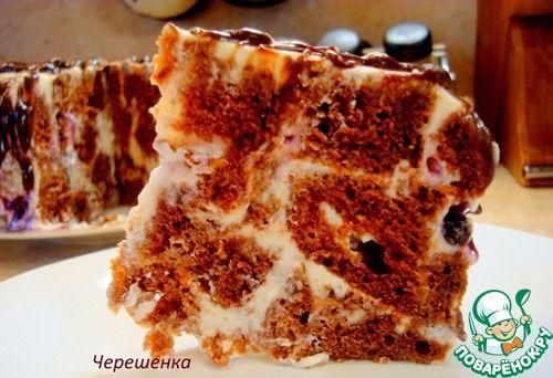 Шоколадный торт с творожно-йогуртовым кремом - кулинарный рецепт