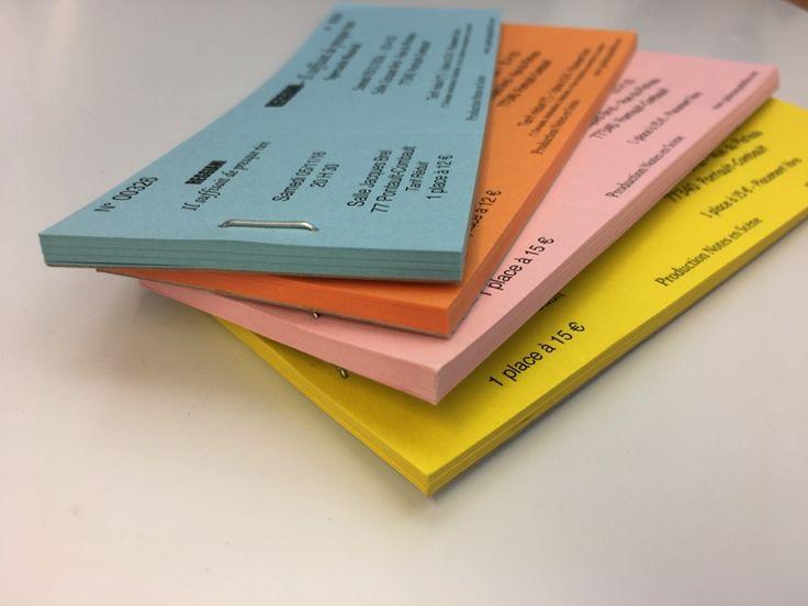 Carnet de Tickets Spectacle pré-découpé – Imprimerie ICB