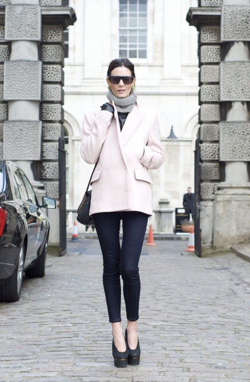 love the Acne blazerClothing Hors, Pink Coats, Northern Lights, Pale Pink, Blazers, Girls Fashion, Heels, Style Blog, Winterfashion Pink