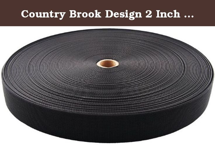 Country Brook Design 2 Inch Scuba or Duty Belt Webbing, 25 Yards. Description: Scuba webbing is made with a blend of Nylon and Polypropolyene. If you're looking for a sturdy webbing that will not lose stiffness, then our Scuba webbing is the webbing you need. As the name suggests, this Scuba webbing is ideal for diving belts, carpenter belts, utility belts, and any heavy duty application where the folding or rolling over of the webbing is not desired. It is used to provide safety and...