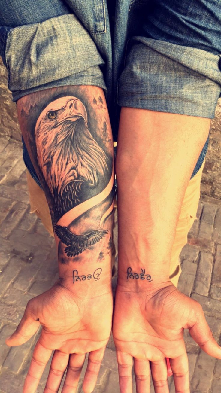 An eagle tattoo by Babbu Kaila