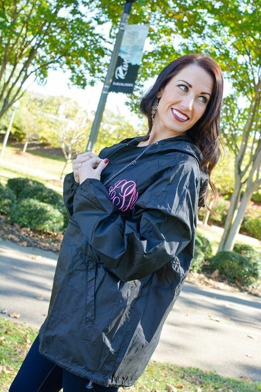 Hey, I found this really awesome Etsy listing at https://www.etsy.com/uk/listing/258246932/monogrammed-rain-jacket-pull-over
