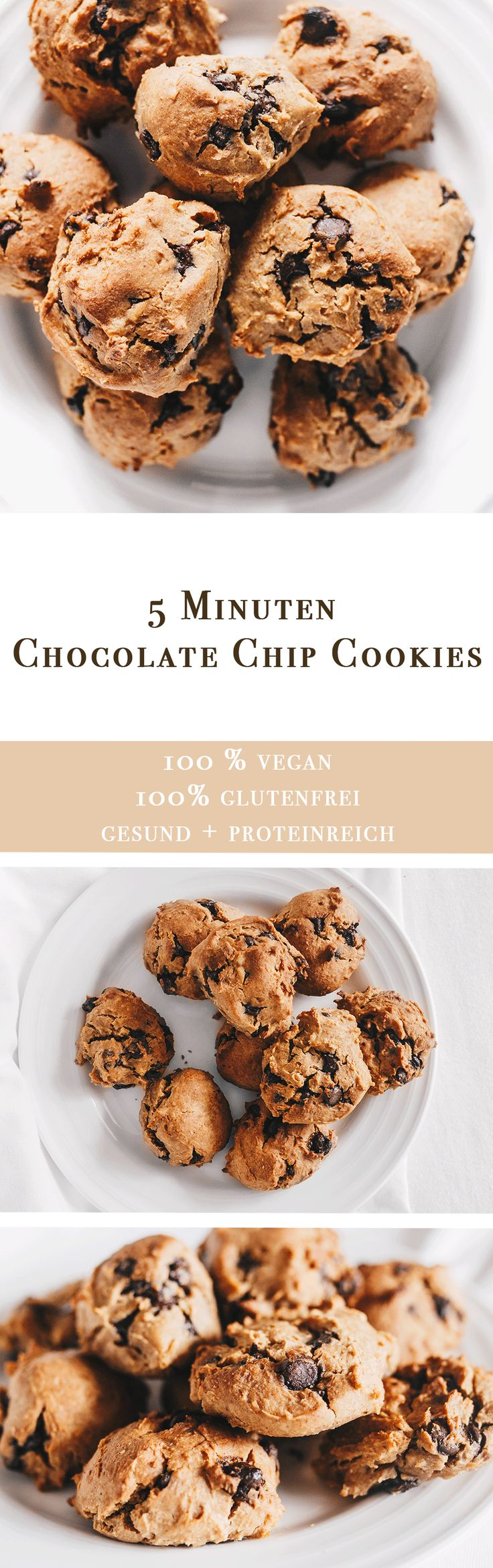 Vanillaholica | 5 Minuten vegane Chocolate Chip Kekse, glutenfrei und proteinreich | http://www.vanillaholica.com . Veganismus, vegan recipes, vegan lifestyle, animal rights, vegans, vegan food, vegan (Chocolate Chip)