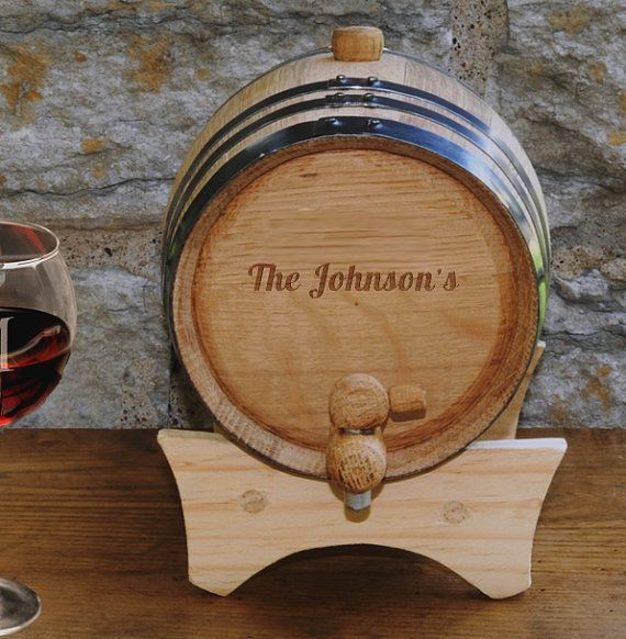 Rustic Wedding Idea - Personalized Mini-Oak Wine Cask