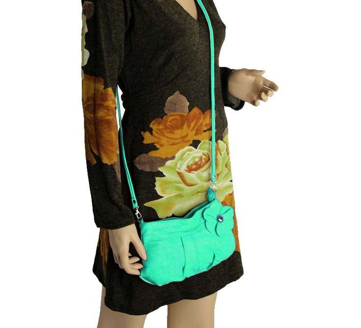 Details zu kleine DAMEN Luxus HAND-TASCHE Blume Schultertasche Abend Clutch Leder Optik Bag – Italyshop24.com