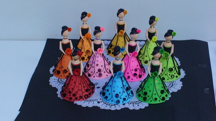 Paper Quilling Dolls by Sandy Inoka at Coroflot.com