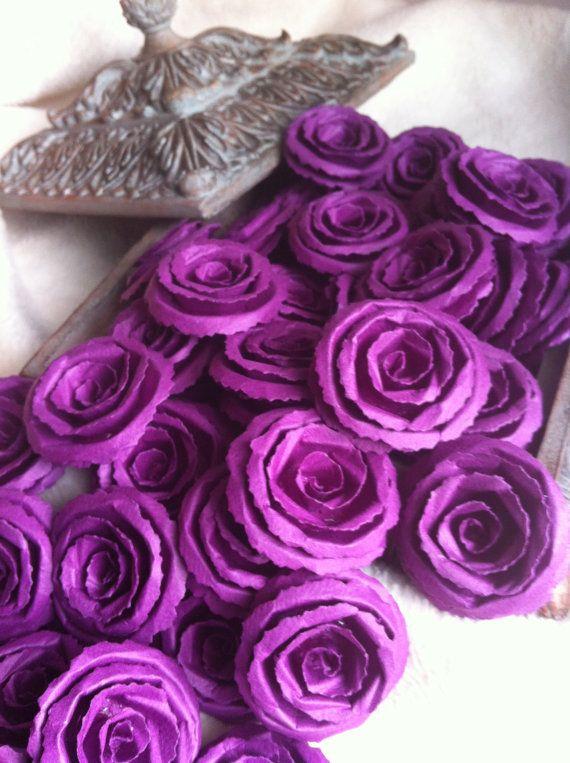 Wedding Paper Flowers...200 Piece Set of Made by JudeAlyssaMarkus