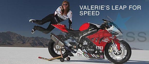 Woman Motorcyclist Valerie Thompson Makes BUB Speed Trials 201 MPH Club at Bonneville Salt Flats