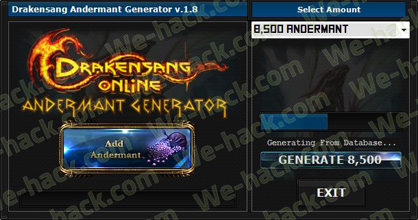 Drakensang Andermant Generator - we-hack.com - Home of Hacks