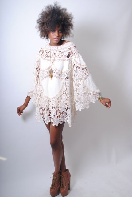 Ivory Gypsy Lace Dress