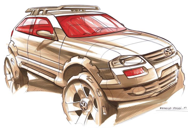 Volkswagen Sketch by Rodrigo Maggi at www.carbodydesign.com