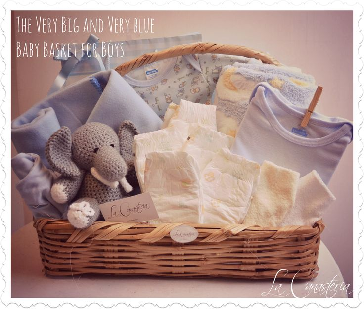 12 best organic baby gift baskets images on pinterest baby gift the very big and very blue baby basket es una canasta completsima para hacer a toda negle Choice Image
