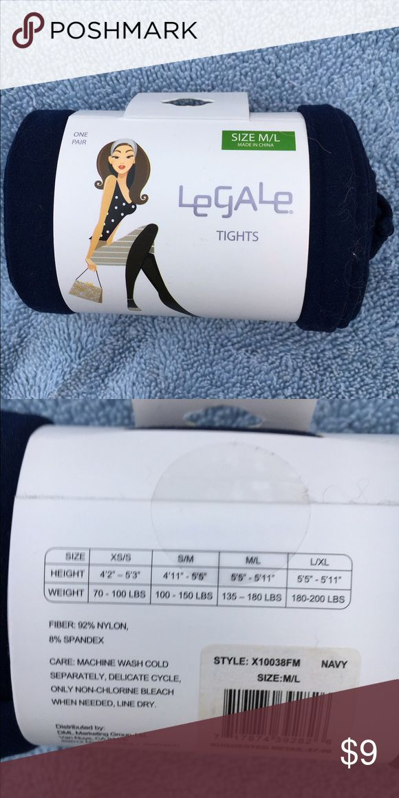 Le Gale Navy Tights Le Gale Navy Tights M/L. 💯 Authentic (most receipts have been posted).  🚫No trades  ✅Only respectable offers made thru the OFFER tool accepted ❣️Please be kind as that's what you'll get in return ☮️Thanks for the opportunity to share my goods w/ u Le Gale Accessories Hosiery & Socks